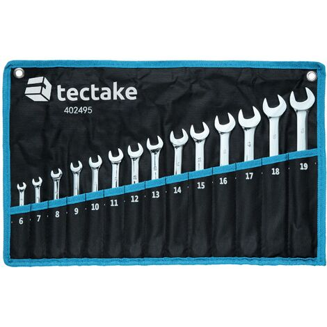"""main image of """"Spanner set combination wrench 14 PCs - wrench, crowfoot wrench, spanner wrench - black"""""""