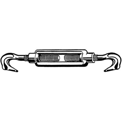 Spannschloßmuttern M16 Stahl verzinkt ≈DIN 1480 5 Stk