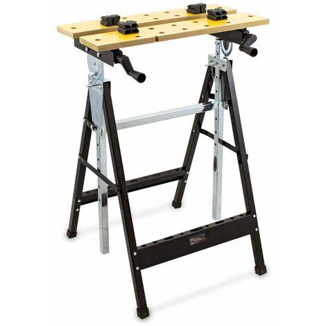 Spanntisch Werkbank Werktisch Arbeitsstisch Verstellbar Klappbar Bis 100kg 17196
