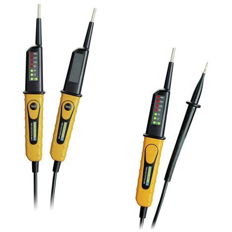 Spannungsprüfer 2-polig PAN Volttester 400 mit und ohne FI Test, IP64
