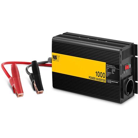 Arebos Spannungswandler Wechselrichter 1000//2000 Watt 12V 230V modifizierte Sinuswelle mit universaler Steckdose