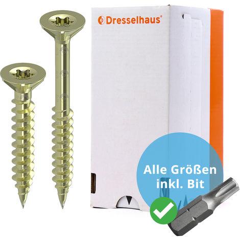 Spax Spanplattenschrauben Edelstahl A2 Senkkopf Kreuzschlitz  3,5x30 VE=200 Stk.