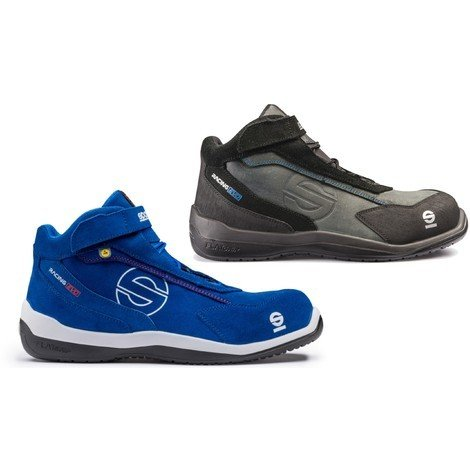 7d72186df90776 Sparco Racing Evo blue or black non-metal breathable S3 safety boot with  midsole