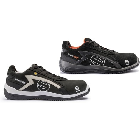 49ee2fdfa59 Sparco Sport Evo black non-metal breathable S3 safety trainer shoe with  midsole