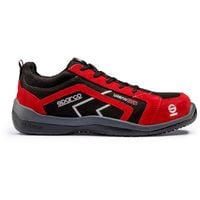 Sparco Urban Evo black/red S3 SRC non-metal safety trainer shoe with midsole