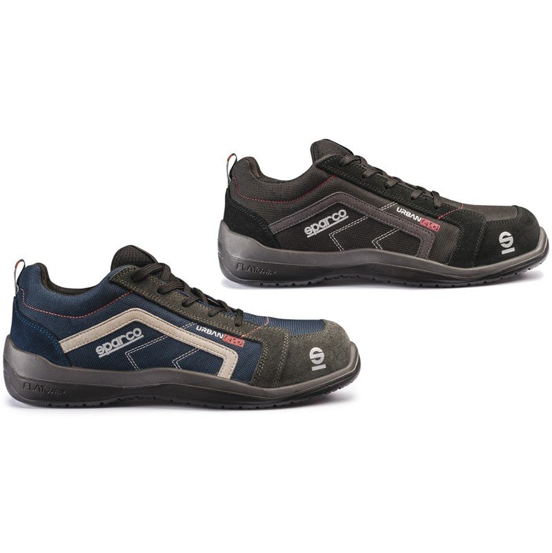 bf3ed034a12 Sparco Urban Evo navy or black non-metal S1P safety trainer shoe with  midsole