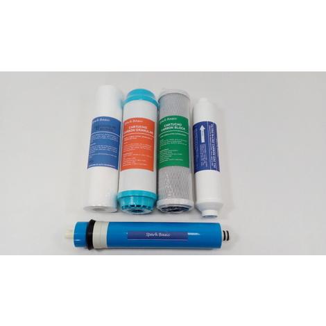 Spark Basic - Pack membrana + 4 filtros osmosis Bàsica 5 etapas
