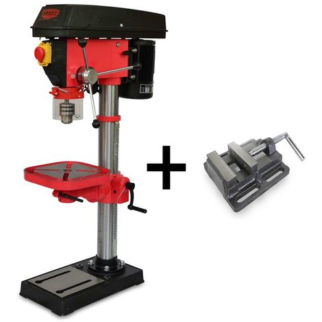 Spark - Bench Drill 550W, Pillar Drill 220V, Drill Press, 12 Speed Levels, Height 980mm, 210-2220 Rpm, Max Drilling Diameter 16mm