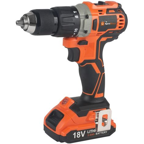 Spark - Cordless Impact Driver, BRUSHLESS Drill, 44Nm, 18V, 2 Batteries 2.0Ah, 1h Rapid Charger, 21 + 3 Torque Settings