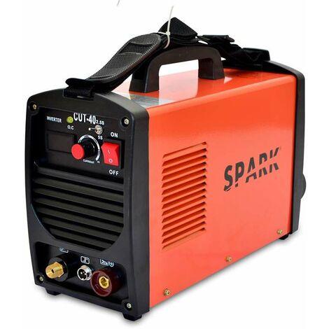 Spark - Cortadora De Plasma 40A, 10mm, 220V, Para Cortar Aluminio, Acero, Hierro, Cable De Antorcha De 1,5m De Longitud