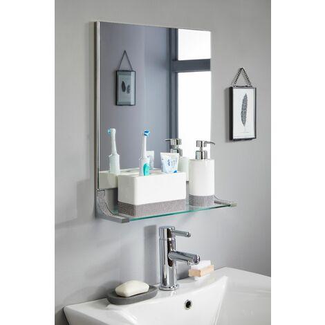 "main image of ""Sparkle Chrome Bathroom Mirror With Shelf"""