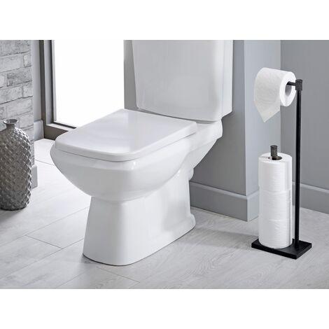 Sparkle Matt Black Bathroom Toilet Roll Holder