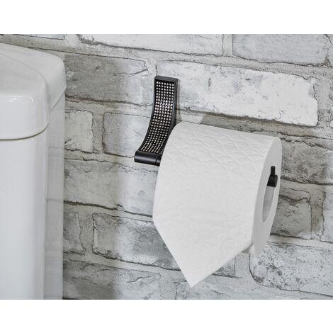 Sparkle Matt Black Toilet Roll Holder