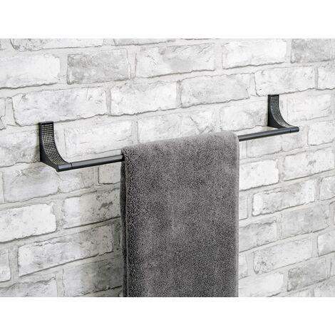 "main image of ""Sparkle Matt Black Towel Rail Holder - Black"""