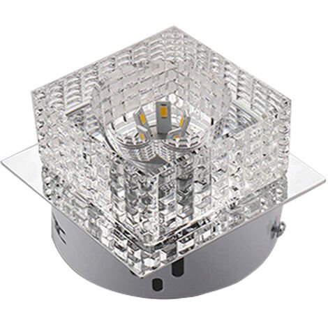 Sparkling Crystal Chandelier Modern Luxury Ceiling Lamp LED Cube Ceiling Lamp for Living Room Bedroom Office Cool White