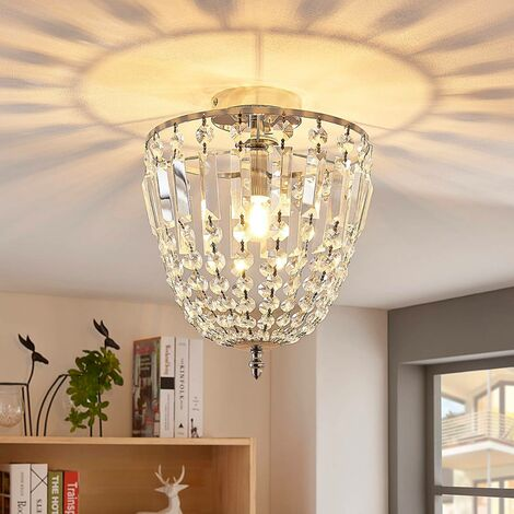 Sparkling glass crystal ceiling light Lionello