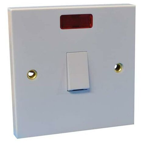 SparkPak 20A Double Pole Switch with Neon - White
