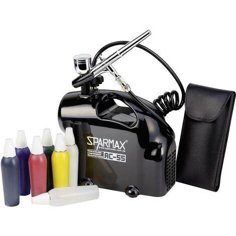 entire collection amazon best place Sparmax Kit aérographe avec compresseur Double Action 0,8 - 2,5 bar