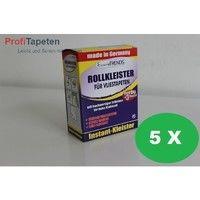 Sparpaket: 5 x Rollkleister / Kleister für Vliestapeten, je 200 Gramm