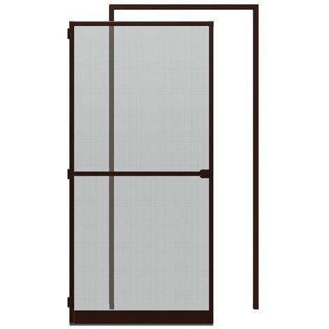 Sparset: Alu-Tür + Zarge 125x245 cm, braun
