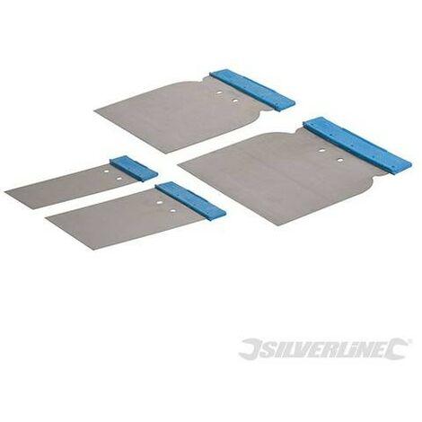 Spatules de carrossier, 4 pcs, 50, 80, 100 et 120 mm