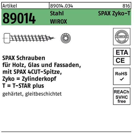 """main image of """"SPAX Holzbauschraube Zylinderkopf 6.0x140 VG Torx 30 Wirox-Silber mit Bewertung"""""""