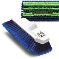 Spazzola per pulire pannelli solari morbida in fibre PP blu verde