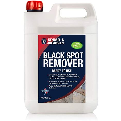 """main image of """"Spear and Jackson 5L Black Spot Remover and Destroyer - Ready to Use for Natural stone, Concrete, Paving slabs, Indian Sandstone & Limestone"""""""