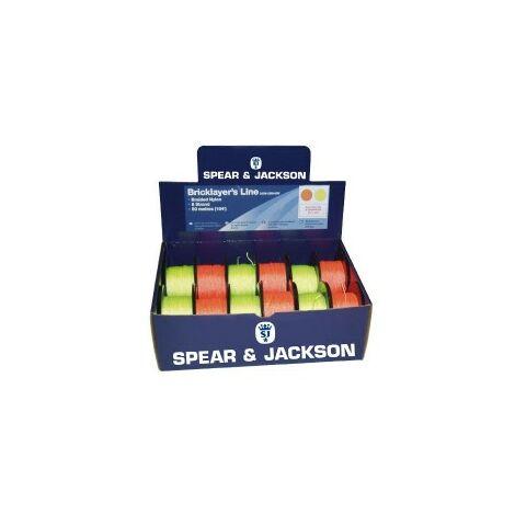 Spear and Jackson SJUK-50M-8W White 50 Metre Brick Lines Box of 12X