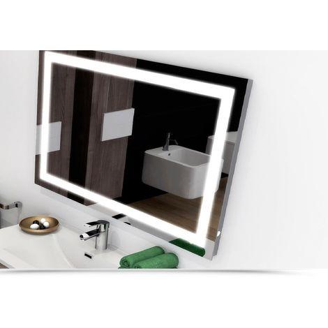 Specchio Angolare Per Bagno.Specchio Bagno Retroilluminato Led Angolare 70x100 Cm Arredo Design