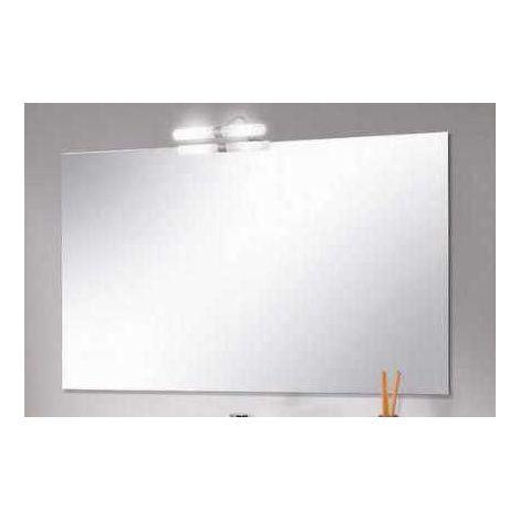 Specchio Angolare Per Bagno.Specchiera Specchio Bagno Rettangolare Misure Da 80x60 Reversibile Con Applique 1