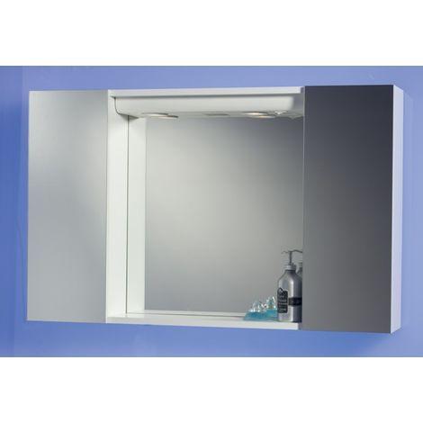 Specchio Bagno Con Ante.Specchiera Specchio Contenitore Bagno Da 94x60x17 Colore Bianco
