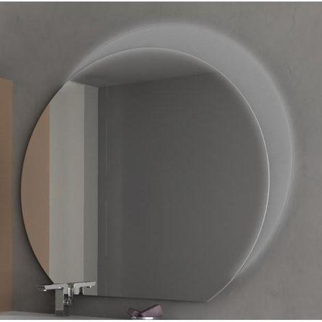 Specchio Da Bagno Con Luci Led.Specchiera Specchio Da Bagno Con Illuminazione A Semiluna Luce Led