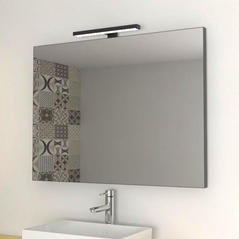 Specchio Accessori Bagno.Specchio Arredo Bagno Con Bordo Nero 80x60 Cm Senza