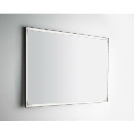 Specchio Bagno Led 100.Specchio Bagno A Led 100x70 Cm Con Cornice Bianco Latte Senza