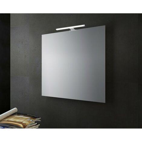 Specchio Luce Bagno.Specchio Bagno Filo Lucido Con Lampada Led 60x60 Cm Specchio Con Luce Lucido 60x60 Lampada