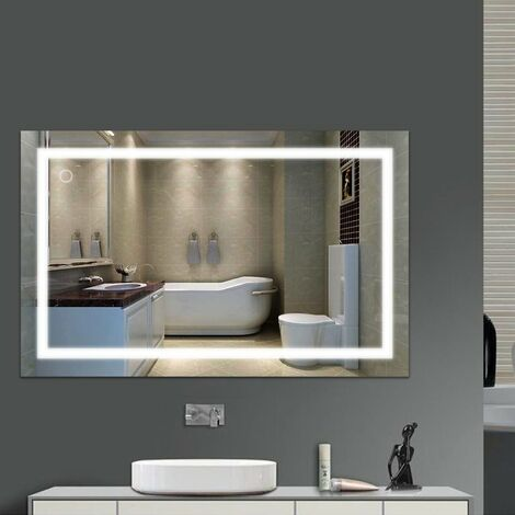 Specchio Bagno Led 100.Specchio Bagno Retroilluminato Con Luce Led 23w 6000k 100 60cm