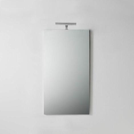 Luce X Specchio Bagno.Specchio Bagno Semplice Con Luce Da 45 Cm X 90 Cm 02080440100409