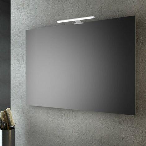 Silver Specchio da parete rettangolare plastica 10 x 8 cm