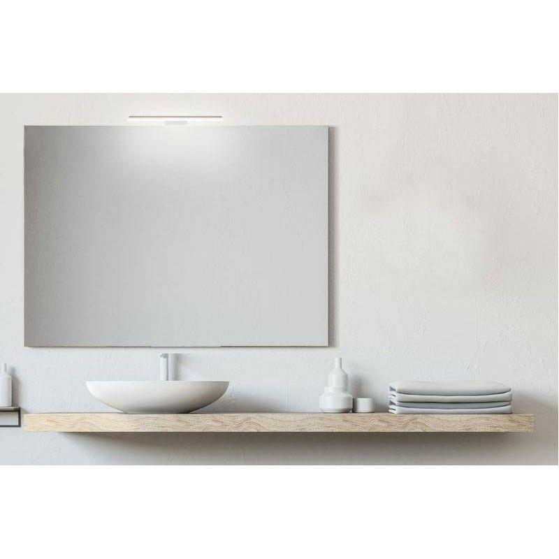 Smmo - Specchio bagno senza cornice da 100x80 cm con lampada led premium