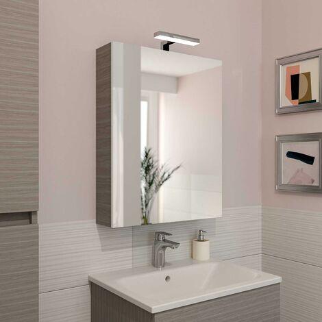 Specchio contenitore 1 anta battente softclose lampada led