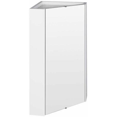 Specchio Contenitore Bagno Bianco ad Angolo - LQ059