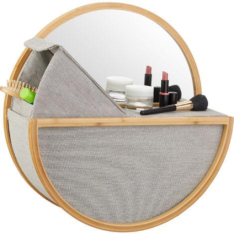 Altro Accessori Bagno Casa, Arredamento E Bricolage Specchio Per Trucco Da Bagno Specchietto Ingranditore Portatile Colore Panna