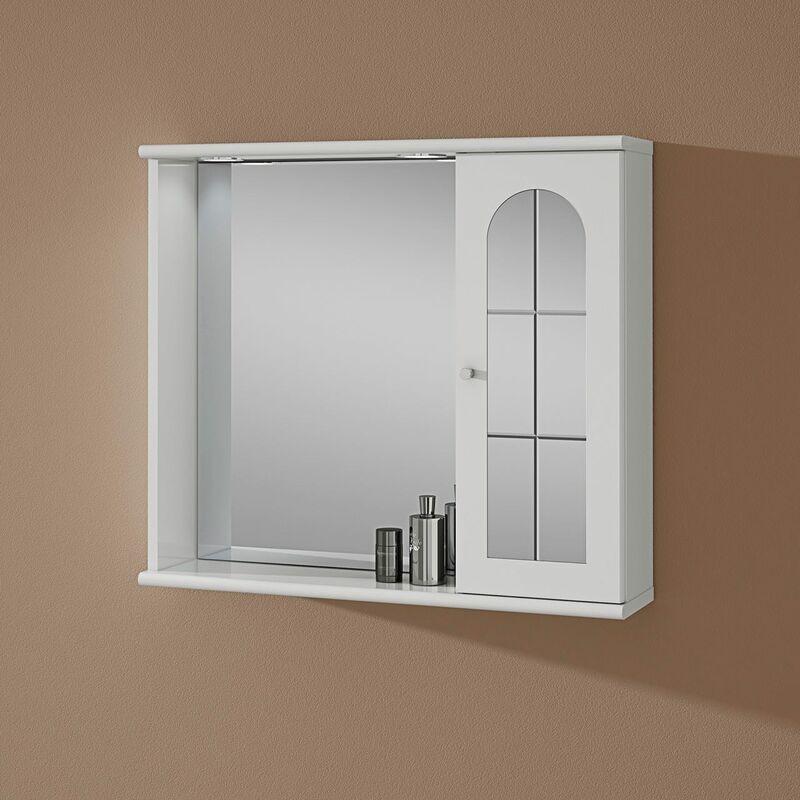 Pensile Specchio Contenitore Per Bagno.Specchio Da Bagno Contenitore Con Pensile Destro Modello Mary