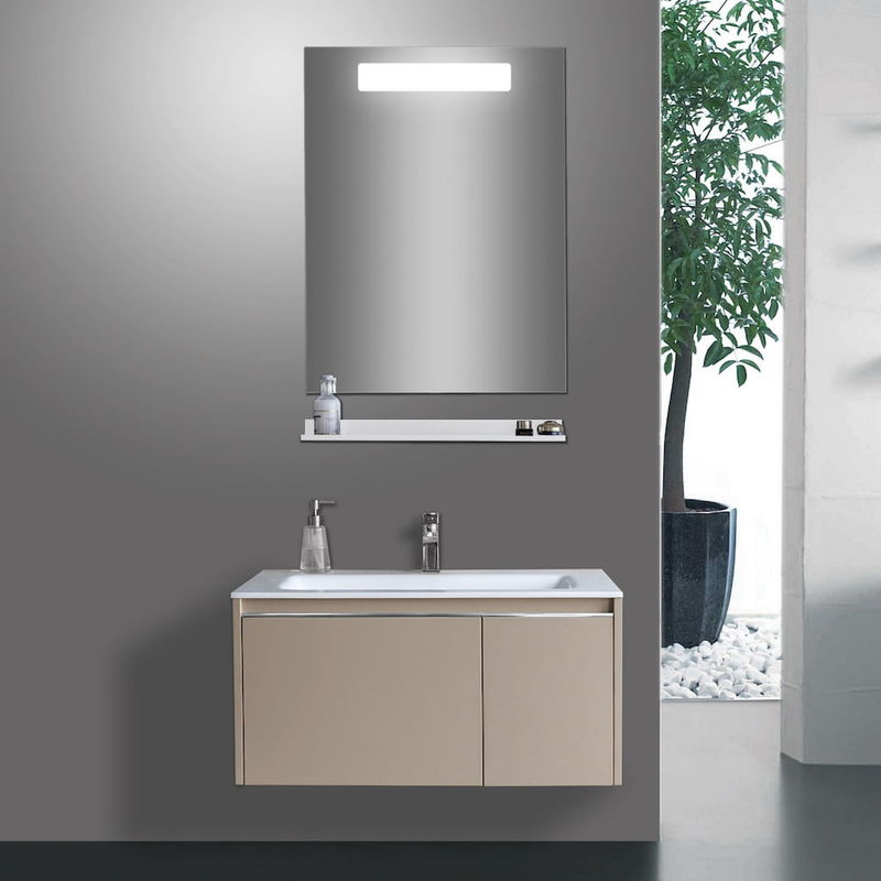 Specchio Angolare Per Bagno.Specchio Da Bagno Rettangolare Con Luce Led Tomasucci
