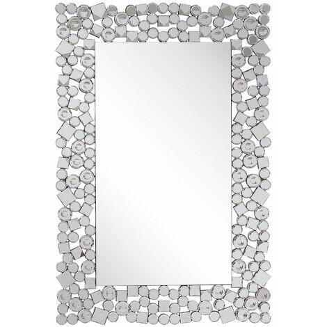 """main image of """"Specchio da parete argento 60 x 90 cm MERNEL"""""""