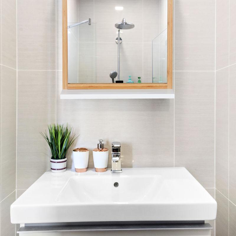 Specchio Con Cornice Per Bagno.Specchio Da Parete Con Mensola E Cornice Per Bagno Ingresso Da