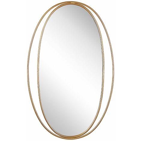 """main image of """"Specchio da parete di forma ovale in color oro 90x55 BESSON"""""""