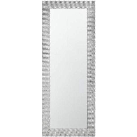 Specchio da parete in color argento 50 x 130 cm DERWAL - 110392
