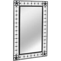Specchio da Parete per Giardino Rettangolare 60x110 cm Nero
